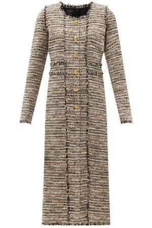 Giambattista Valli Striped Tweed Midi Dress - Womens - Multi