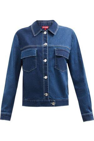 Staud Ryan Panelled Denim Jacket - Womens - Denim
