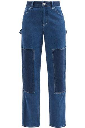 Staud Women High Waisted - Painter High-rise Panelled Wide-leg Jeans - Womens - Denim