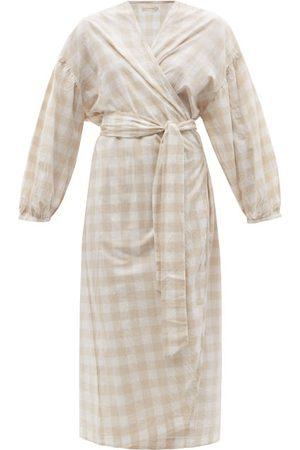 General Sleep Agnes Balloon-sleeve Organic-cotton Robe - Womens