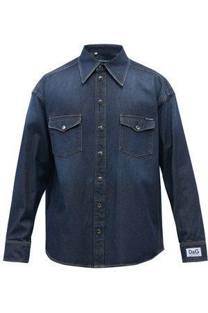 Dolce & Gabbana Men Denim - Patch-pocket Denim Shirt - Mens - Dark
