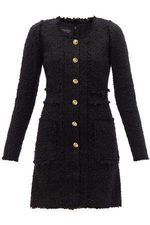 Giambattista Valli Women Party Dresses - Buttoned Tweed Mini Dress - Womens