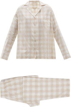 General Sleep Classic Checked Organic-cotton Pyjamas - Womens