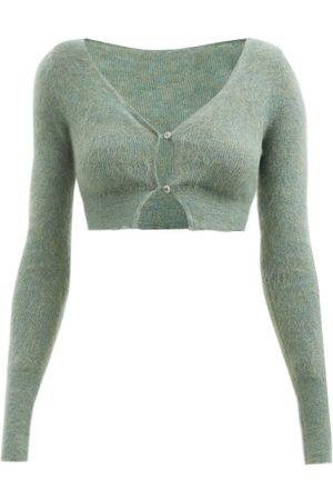 Jacquemus Women Cardigans - Azlou Cropped Mohair-blend Cardigan - Womens