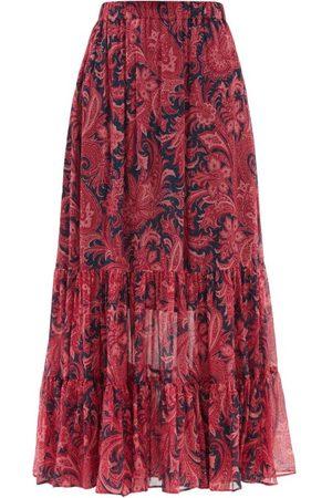 Etro Long Beach Paisley-print Silk-chiffon Maxi Skirt - Womens - Print
