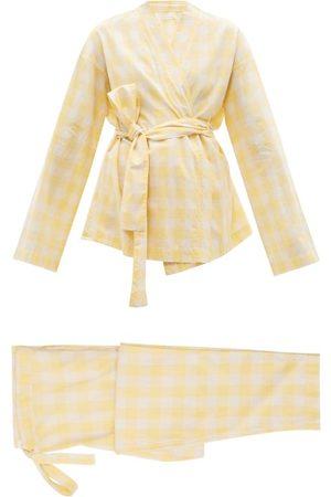 General Sleep Wrap Organic-cotton Gingham Pyjama Set - Womens