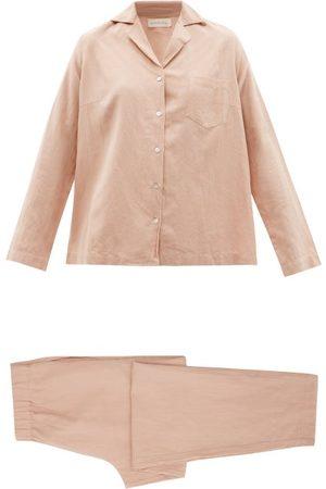 General Sleep Classic Organic Cotton-blend Pyjamas - Womens - Light