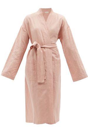 General Sleep Everyone Belted Organic Cotton-blend Robe - Womens - Light