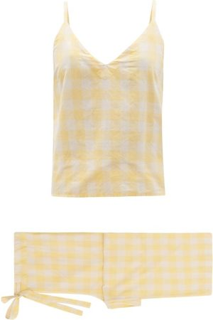 General Sleep Paloma Checked Organic-cotton Pyjamas - Womens