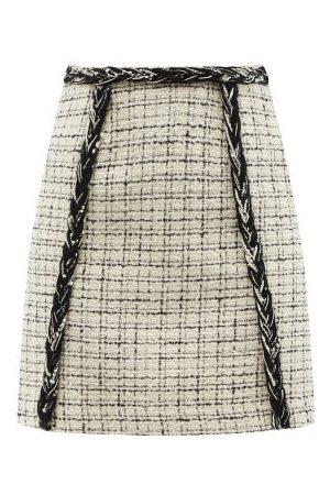 Giambattista Valli Women Mini Skirts - Braided Bouclé-tweed Mini Skirt - Womens