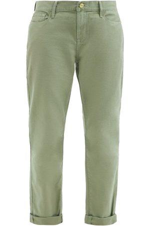 Frame Le Garcon Straight-leg Jeans - Womens - Khaki