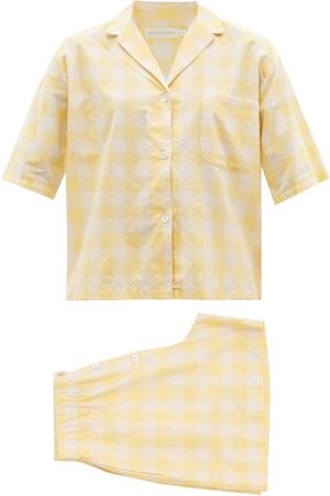 General Sleep Camilla Checked Organic-cotton Pyjamas - Womens