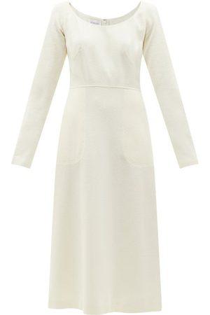 Giambattista Valli Scoop-neckline Crepe Midi Dress - Womens - Ivory