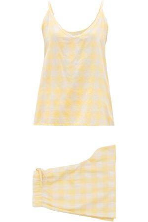 General Sleep Summer Checked Organic-cotton Pyjama Set - Womens