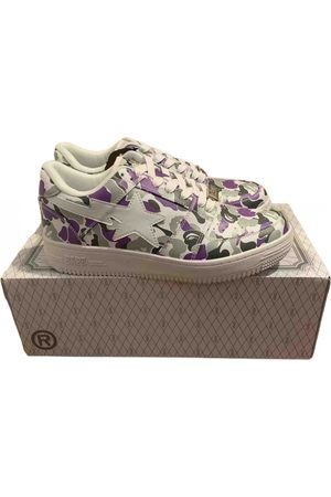AAPE BY A BATHING APE Bapesta leather low trainers
