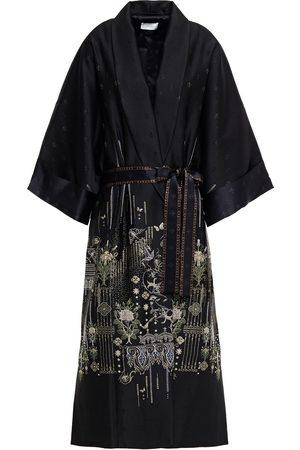 Camilla Woman Laya Embroidered Metallic Twill Kimono Size ONESIZE