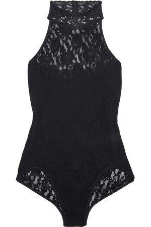 Hanky Panky Woman Signature Stretch-lace Halterneck Bodysuit Size L