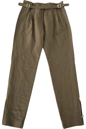 Irfé Khaki Cotton Trousers