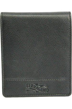 Salvatore Ferragamo Grey Leather Small Bags\, Wallets & Cases