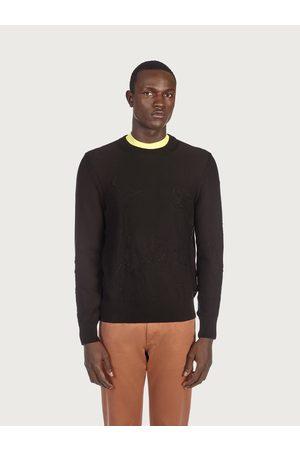 Salvatore Ferragamo Men Round neck jacquard sweater