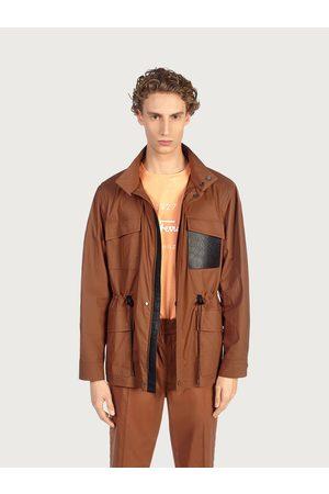 Salvatore Ferragamo Men Safari jacket with leather details