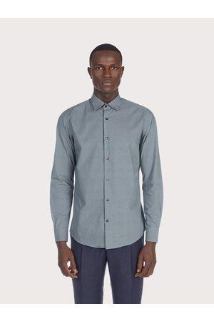 Salvatore Ferragamo Men Long sleeved cotton shirt