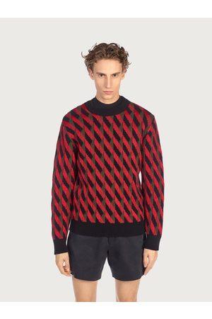 Salvatore Ferragamo Men Geometric jacquard sweater