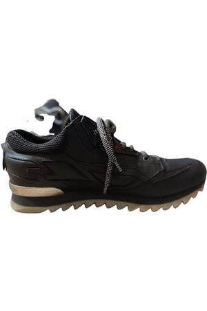 Les Hommes Leather low trainers