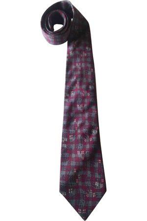 Dior Burgundy Silk Ties