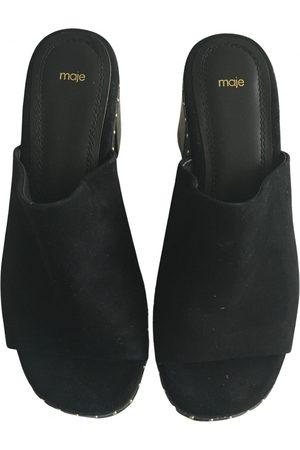 Maje Women Mules - Suede Mules & Clogs