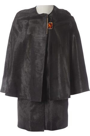Lanvin Grey Leather Jackets