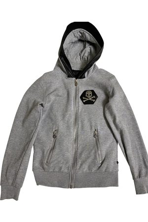 Philipp Plein Grey Cotton Knitwear & Sweatshirts