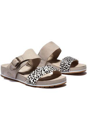Timberland Women Sandals - Malibu Waves 2 Band Sandals EU 40 Black White Leopard