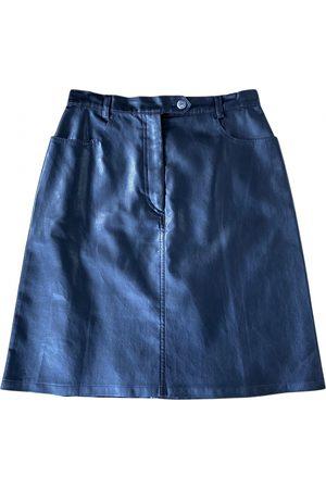 Cacharel Leather mini skirt