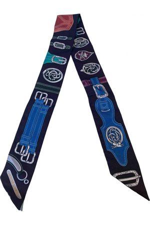 Hermès Navy Silk Scarves