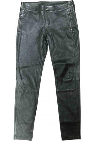 Desa Leather straight pants