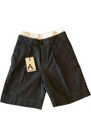 ANDREA POMPILIO Grey Cotton Shorts