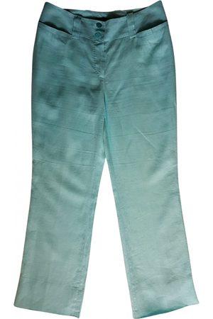 LUISA SPAGNOLI Linen straight pants