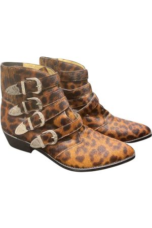 TOGA PULLA Pony-style calfskin western boots