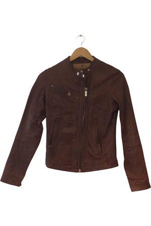 GOOSECRAFT Burgundy Leather Jackets