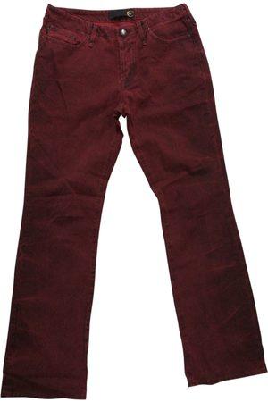 Roberto Cavalli Burgundy Cotton Jeans