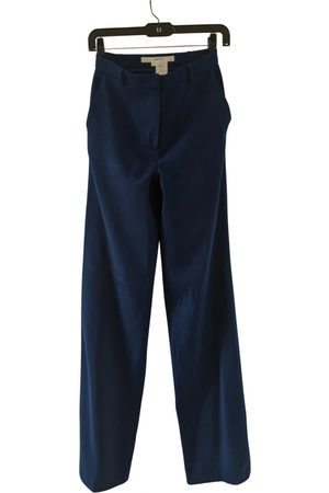 pushBUTTON Women Straight Leg Pants - Wool straight pants