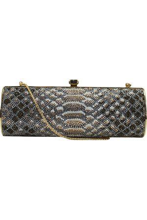 Judith Leiber Grey Glitter Clutch Bags