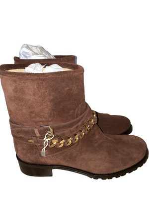 Elisabetta Franchi Women Ankle Boots - Suede Ankle Boots