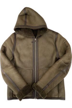 Vince Khaki Leather Jackets
