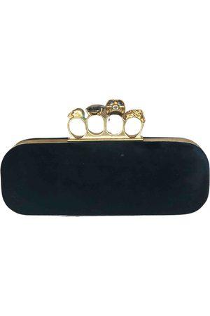Alexander McQueen Women Clutches - Knuckle velvet clutch bag