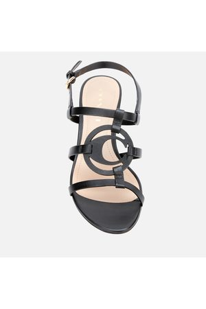 Coach Women Heeled Sandals - Women's Edina Leather Block Heeled Sandals