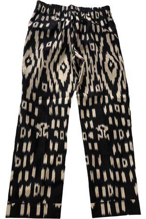 DRIES VAN NOTEN Women Straight Leg Pants - Silk straight pants