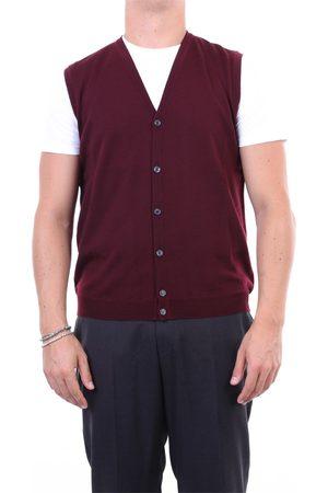 Halston Heritage Men Tank Tops - Knitted vest Men Wine