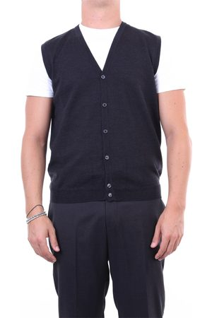 Halston Heritage Knitted vest Men Anthracite